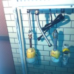 東京都中野区 ガス給湯器取替工事 施工中