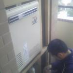 神奈川県箱根町 熱源機・給湯器取替工事 施工中