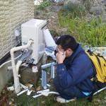 神奈川県逗子市 ガスふろ給湯器取替工事 施工中