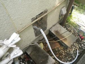 据置給湯器取替工事(横浜市戸塚区) 追い焚き管新設後