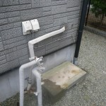 据置型給湯器取替工事(横浜市旭区) 撤去後