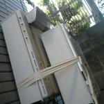 壁掛け給湯器交換工事(横浜市磯子区洋光台) 施工前(仮設置)